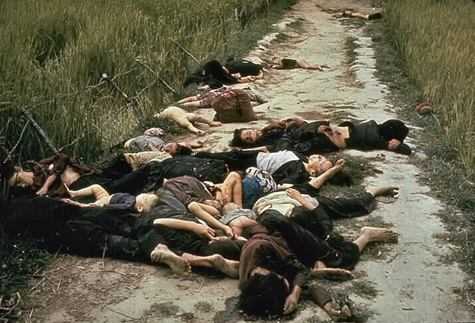 The My Lai Massacre of March 16, 1968 left horrific carnage of entirely civilian and mostly women and children, many of whom were sexually abused.