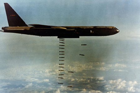 Boeing B-52D Drops Its Bomb Load in Operatiion Linebacker II, December 1972